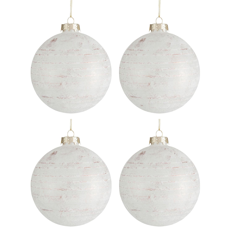Vánoční ozdoba WHITE GLITTER