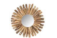 Mirror Round Driftwood Natural