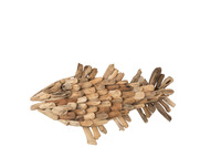 Fish Wall Deco Driftwood Natural