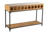 Console For Wine Bottles Wood