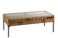 Coffee Table For Wine Bottles Wood