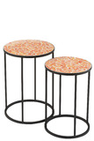 Set Of 2 Side Tables Shard Mosaic