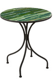 Table Lines Mosaic Metal/Glass