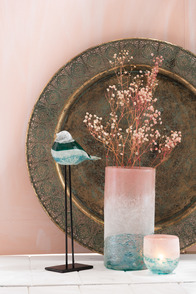 Vase Blush Cylinder Glass