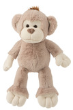 Monkey Plush Beige/Ecru Large