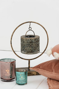 Tealight Holder Ring Metal Mix