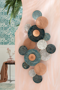Wall Deco Circles Holes Metal