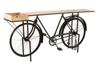 Console Bicycle Metal/Mango Wood