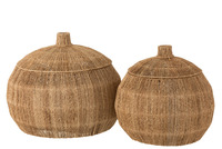 Set 2 Baskets Dantya Ball Jute