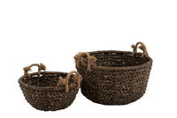 Set Of 2 Baskets Bowl Water