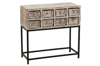 Console 8 Drawers Recycled Wood