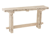 Console Brut Recycled Wood White