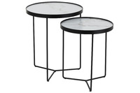 Set Of 2 Side Tables Round