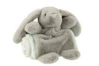 Rabbit+Blanket Plush Green