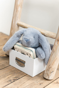 Rabbit+Blanket Plush Blue