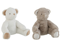 Bear Plush White/Grey Large