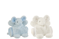 Mouse+Blanket Plush White/Blue