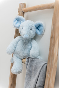 Mouse Plush White/Blue Small