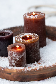 Cyl. Candle Brown s18h