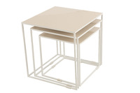 Set Of 3 Sidetables Metal Lacquer