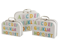Set Of 3 Suitcases Letters Paper
