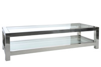 Coffee Table Stainless Steel/Glass