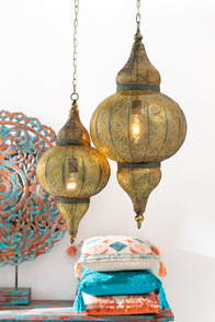 Hanging Lamp Oriental Metal