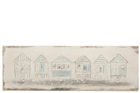 Painting Beach Houses Canvas/Wood