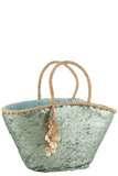 Beach Bag Sequins Azure