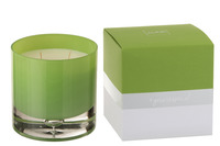 Scented Candle Glass Light Green