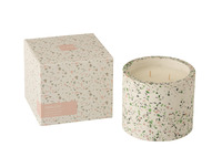 Scented Candle Terrazzo Pink/White