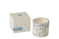 Scented Candle Terrazzo Blue/White