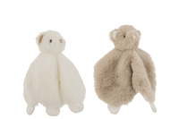 Doudou Bear Plush White/Grey