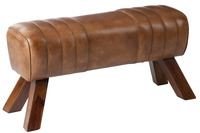 Gym Bench Leather/Wood Cognac
