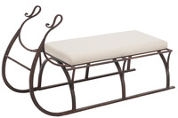 Bench Sled Metal Brown