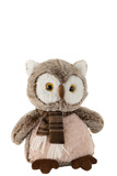 Owl+Scarf Plush Brown/Beige Large