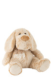 Dog+Scarf Plush Beige Large