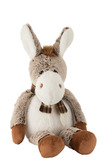Donkey+Scarf Plush Brown Large