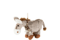 Horse+Scarf Plush Brown Small