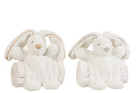 Bunny+Blanket Plush White