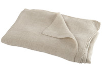 Throw Stonewashed Linen Beige