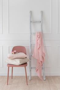 Throw Stonewashed Linen Pink