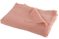 Throw Stonewashed Linen Peach Pink
