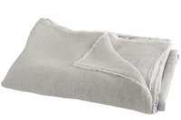 Throw Stonewashed Linen Light Grey