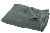 Throw Stonewashed Linen Dark Green