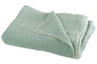 Throw Stonewashed Linen Mint