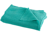 Throw Stonewashed Linen Aqua