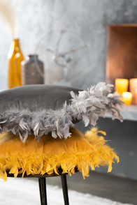 Cushion Feathers Polyester Ochre