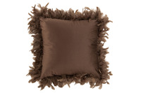 Cushion Feathers Polyester Brown