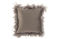 Cushion Feathers Polyester Grey